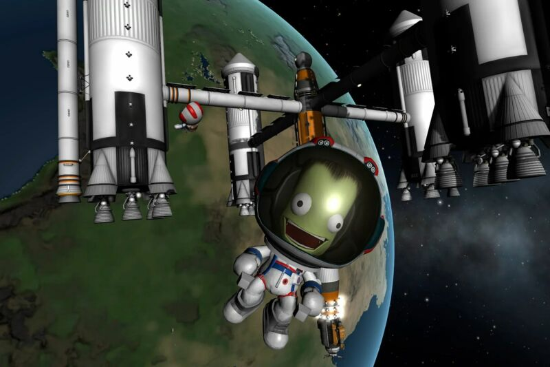 Promotional image for video game Kerbal Space Program.