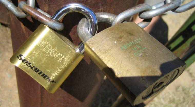 Close-up photograph of a padlock.