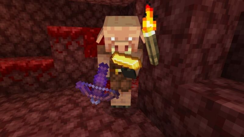 The bartering Piglin that were at the heart of Dream's <em>Minecraft</em> cheating drama.