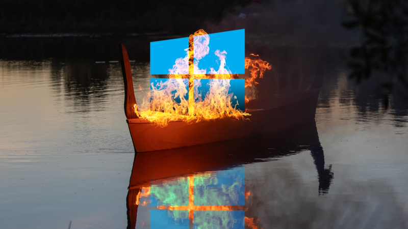 Please show your retired operating system the respect it deserves, with a proper Viking funeral.