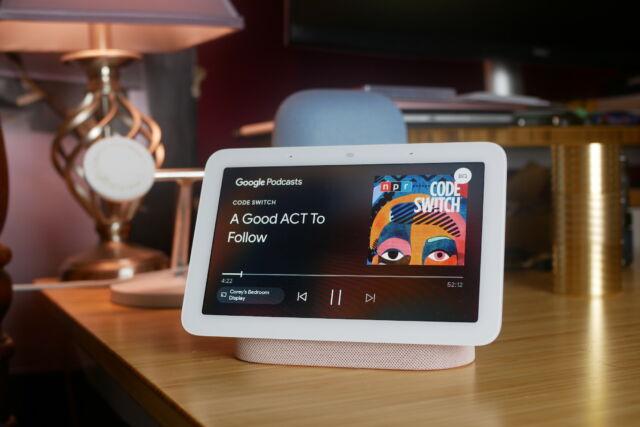 Google's second-generation Nest Hub smart display.
