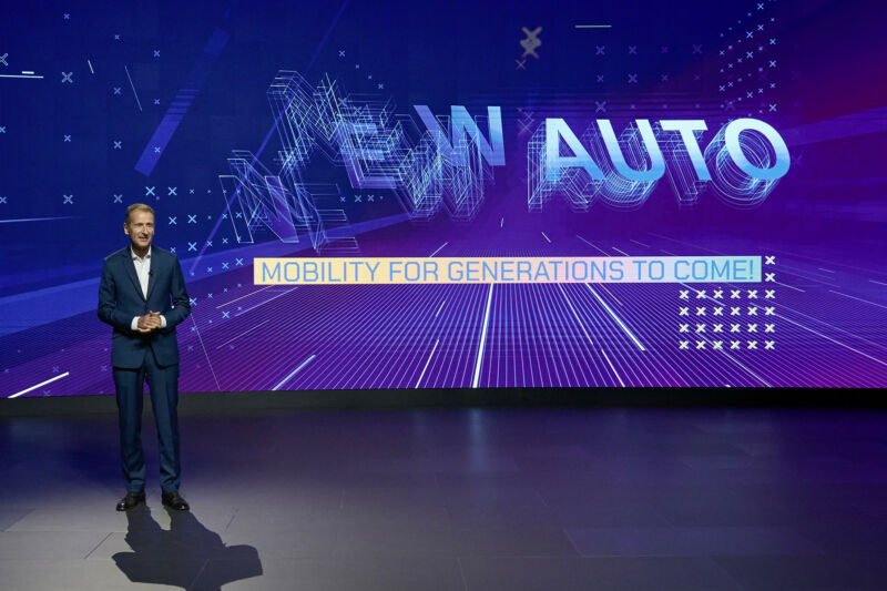 VW Group CEO Herbert Diess presents VW's strategy for the next decade.