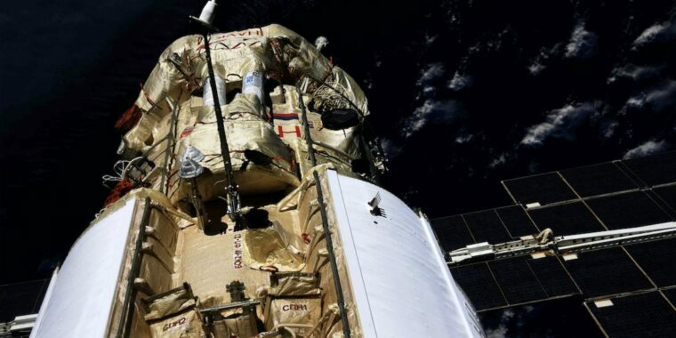 Nauka module's near miss raises concerns about future of space station