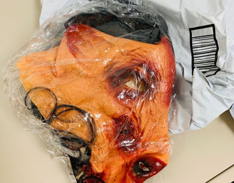 A bloody pig mask mailed to cyberstalking victims by then-eBay employees.