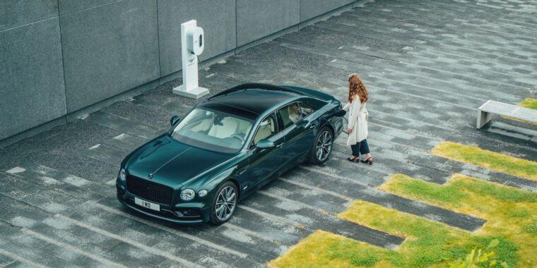 Bentley has a new plug-in hybrid Flying Spur sedan on the way