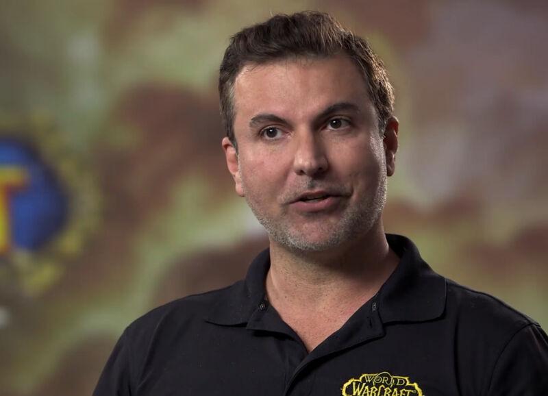 "Ex-Blizzard developer Alex Afrasiabi as he appeared in <a href=""https://www.facebook.com/Warcraft/videos/wow-classic-with-creators-episode-5-alex-afrasiabi/757636928021922/"">a 2019 video promoting <em>World of Warcraft</em></a>."
