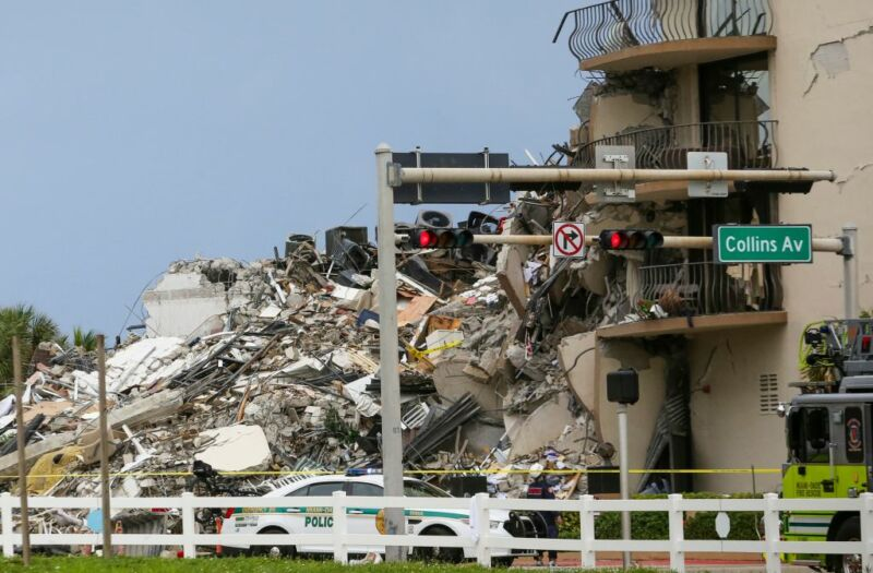 Image of a collapsed building.