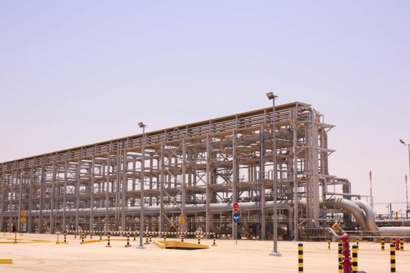 The Hawiyah Natural Gas Liquids Recovery Plant, operated by Saudi Aramco, in Hawiyah, Saudi Arabia, on Monday, June 28, 2021.