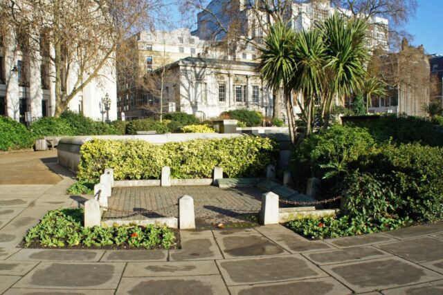 """""""This then is my reward for faithful service!"""" Site of the ancient scaffold at Tower Hill in London, where Thomas Cromwell was beheaded in 1540."""