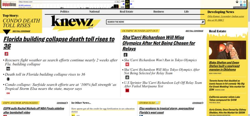The now-defunct news aggregator was an excellent source of boldface, italics, underline, and wildly mismatched typefaces.