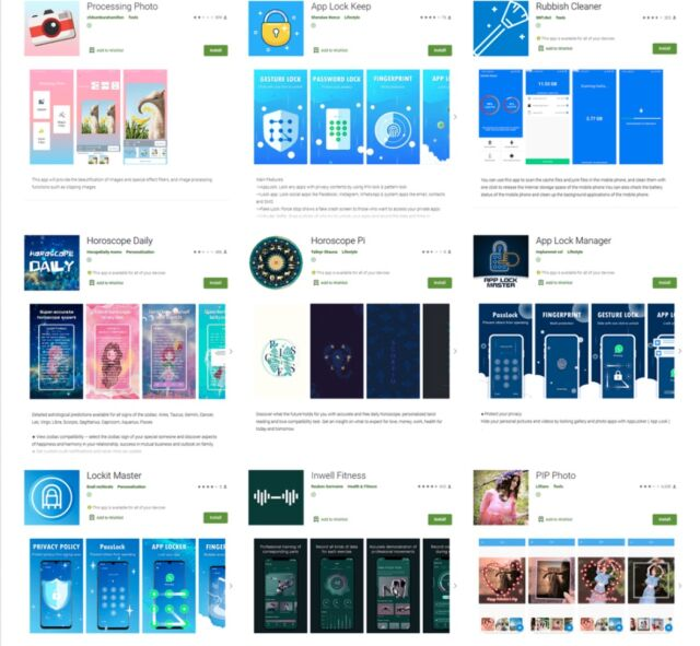 malicious android apps Apps with 5.8 million Google Play downloads stole users' Facebook passwords