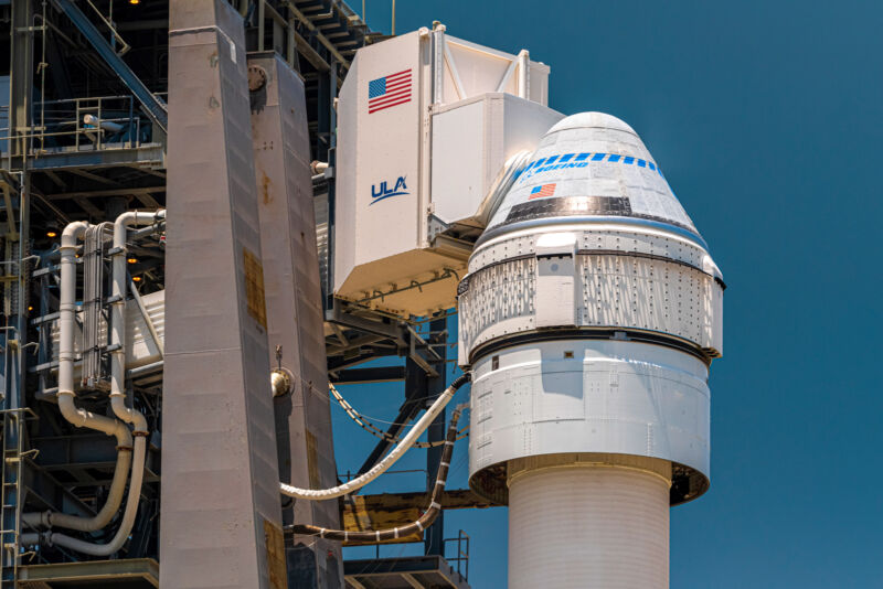 Photo of Boeing's Starliner spacecraft.