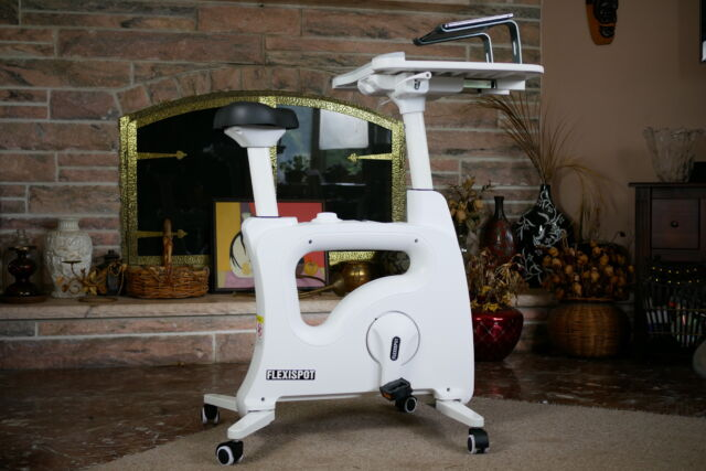 The Flexispot Desk Bike is surprisingly comfortable and a welcome way to stay active while you work.