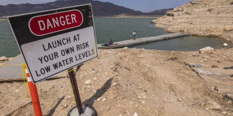 Two decades of drought have exacted a heavy toll on the Colorado River, bringing Lake Mead to its lowest level since 1937, when the reservoir was fill
