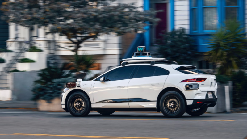 Waymo's 5th-generation cars, based on the all-electric Jaguar I-Pace.