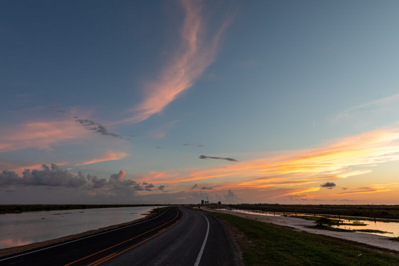 Boca Chica Highway runs through SpaceX's facilities in South Texas.
