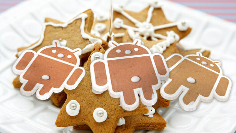Delicious gingerbread Android cookies.