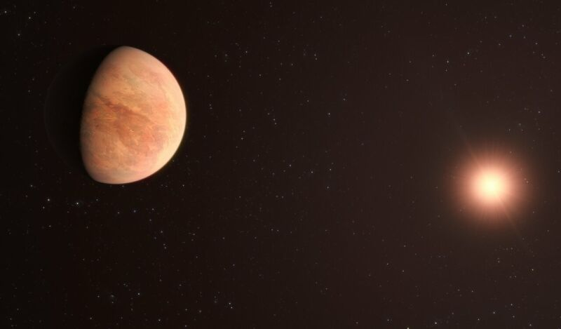 Image of a planet with a star in the background.