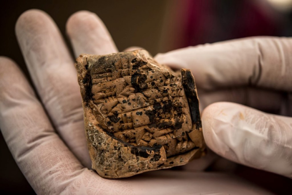 One of the thousands of looted ancient artifacts that Hobby Lobby returned to the Republic of Iraq.