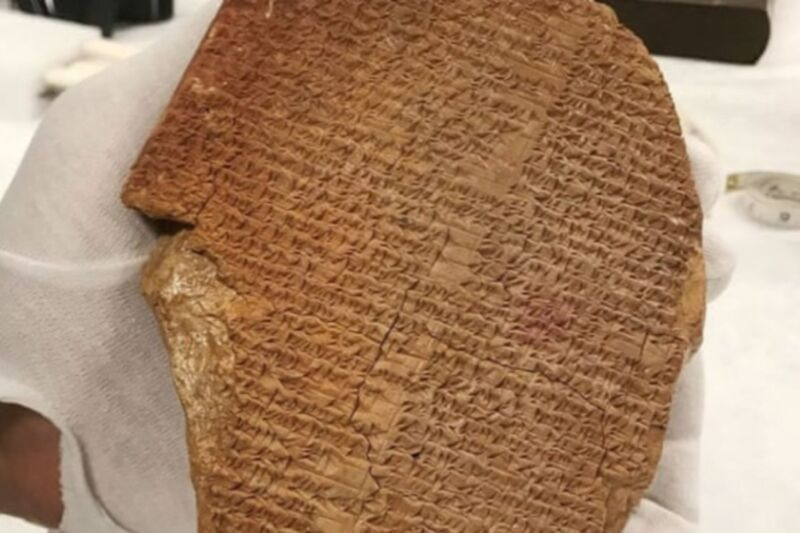A rare cuneiform tablet engraved with a portion of the ancient Mesopotamian epic of Gilgamesh will be returned to Iraq, per the US Department of Justice, along with 17,000 other looted artifacts.