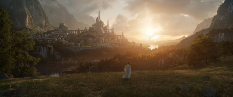 The first live action promotional image for Amazon's new <em>The Lord of the Rings</em>-related series.