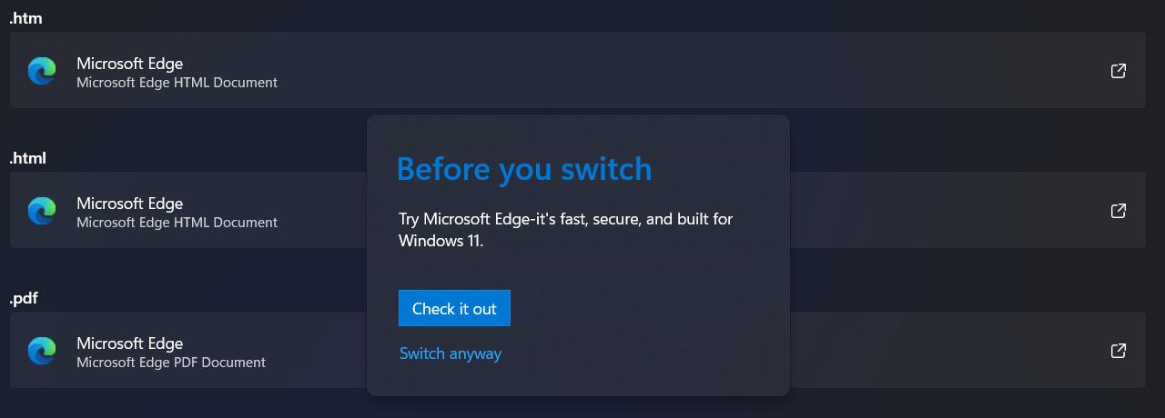 """""""Eu sei que você se esforçou para trocar de navegador, mas REALMENTE deseja fazer isso?"""""""