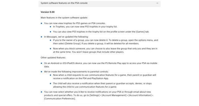 Sony's official firmware patch notes for its latest update oddly make no mention of a system-bricking CMOS battery fix.
