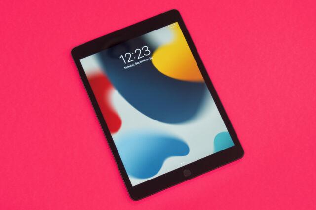 Le nouvel iPad de la neuvième génération.