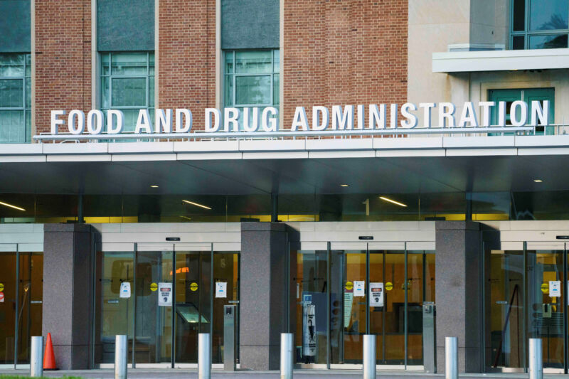 The US Food and Drug Administration in Silver Spring, Maryland.