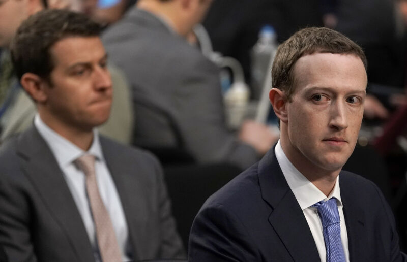 Facebook CEO Mark Zuckerberg testifies before a combined Senate Judiciary and Commerce committee hearing in the Hart Senate Office Building on Capitol Hill April 10, 2018 in Washington, DC. Zuckerberg, 33, was called to testify after it was reported that millions of Facebook users had their personal information harvested by Cambridge Analytica.