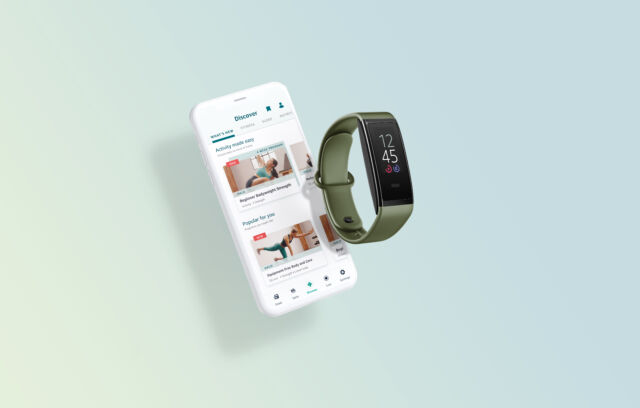The Halo View works with the Halo app and Amazon's fitness service.