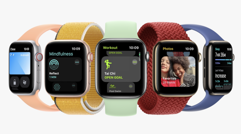 The Apple Watch gets a slight visual upgrade with the Series 7