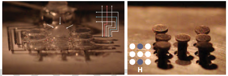 Two images that show the change in surfaces triggered by combustion.