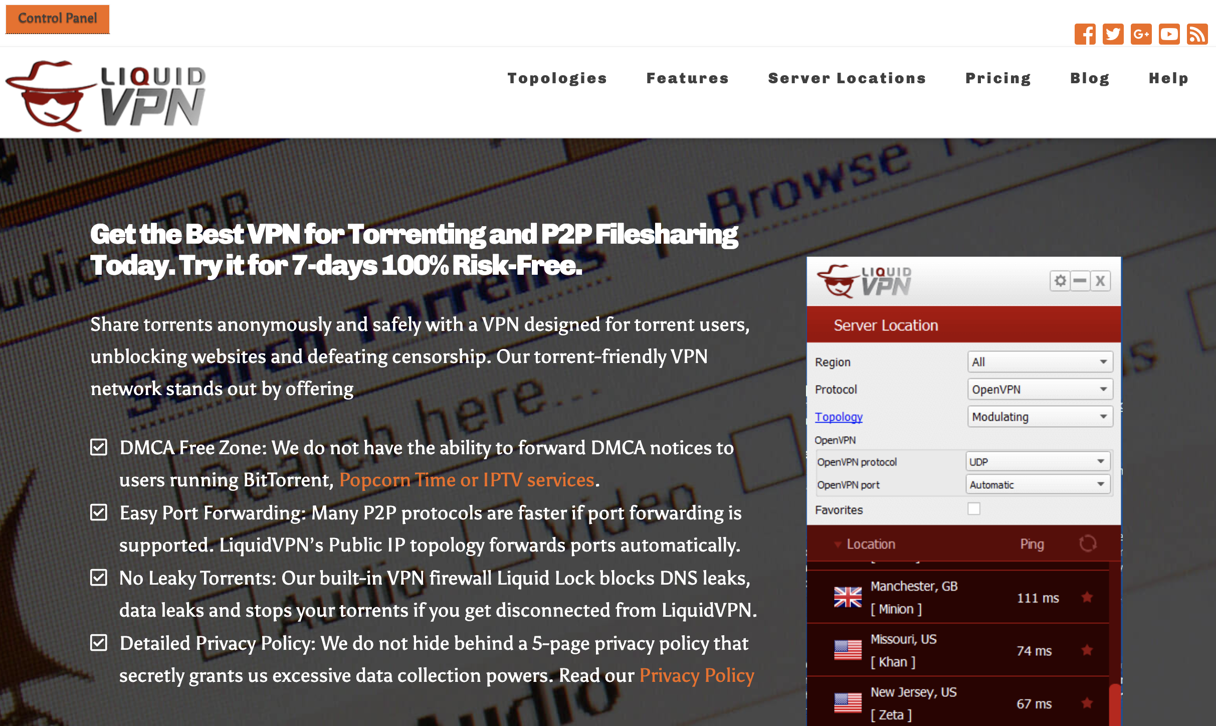 """LiquidVPN's """"Popcorn Time VPN,"""" among other controversial marketing slogans."""