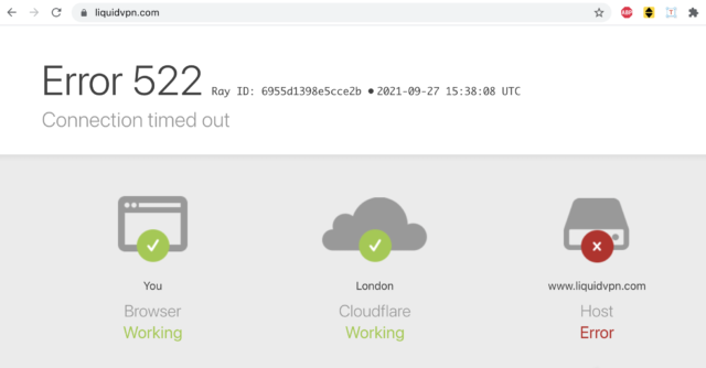 LiquidVPN website throwing timeout errors for days.