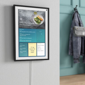 The Echo Show 15 can be mounted.