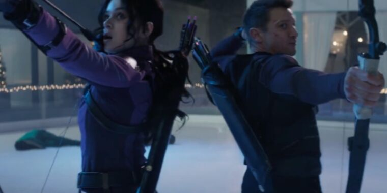 Jeremy Renner passes down his bow in fun, holiday-themed trailer for  Hawkeye