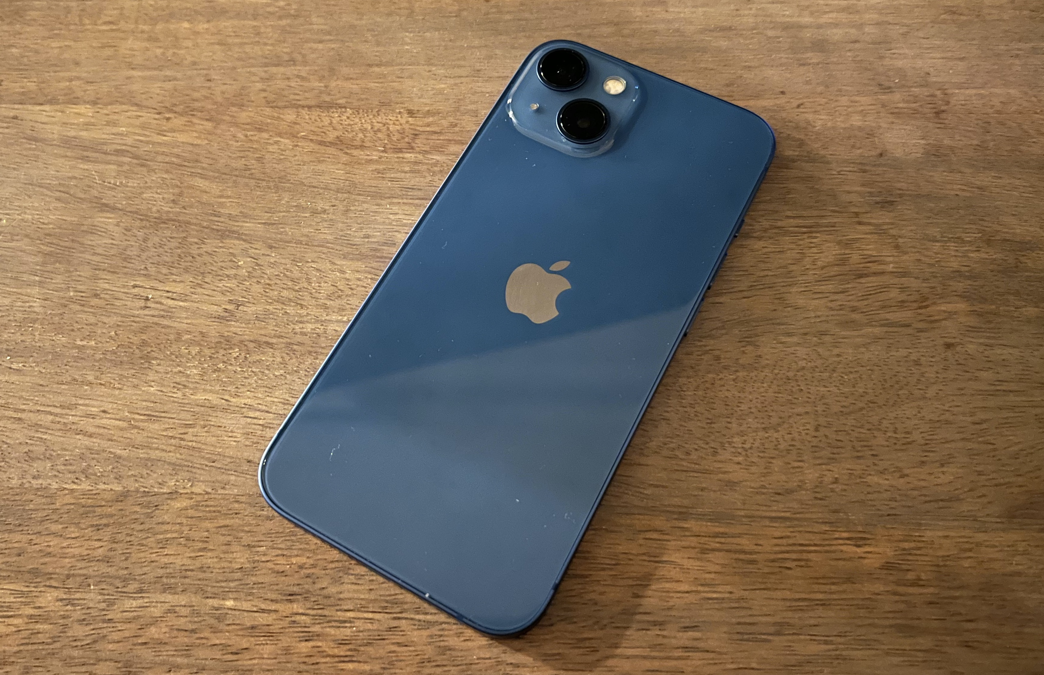 The back of the iPhone 13.