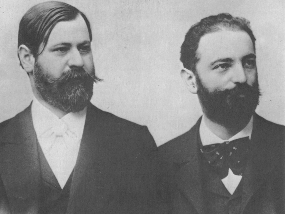 1890s photograph of the Austrian psychologist Sigmund Freud and the German biologist and physician Wilhelm Fliess.