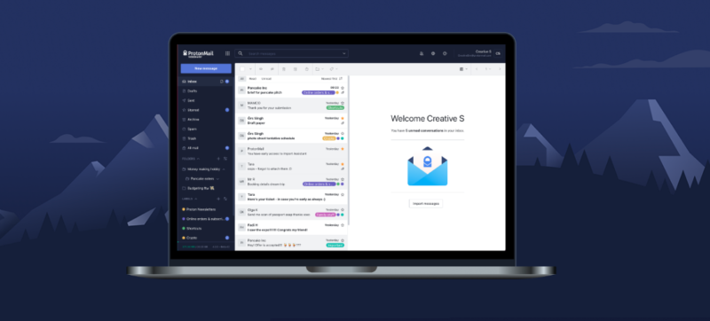ProtonMail offers end-to-end encryption and a stated focus on privacy for its email service—which offers a user interface quite similar to those of more mainstream services such as Gmail.