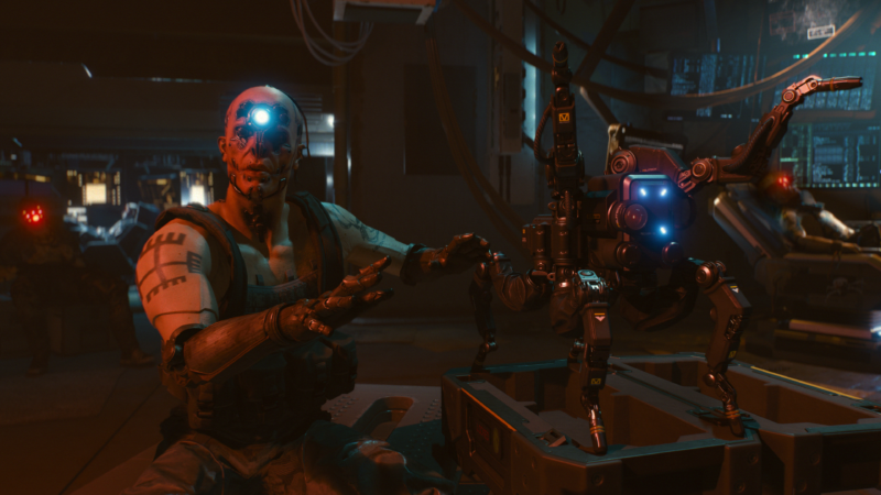Promotional image from video game Cyberpunk 2077.