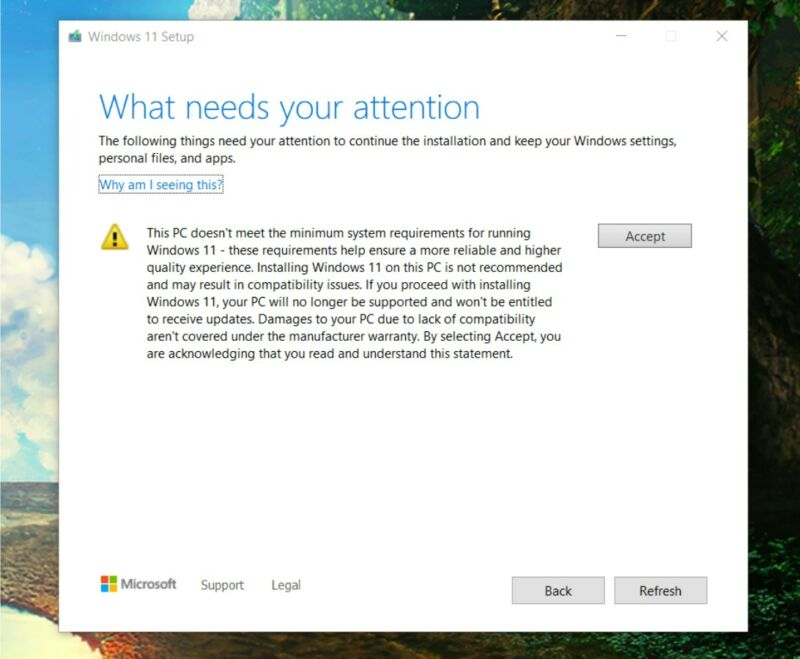 Microsoft will allow Windows 11 installs on some unsupported systems, but it really would prefer you not.