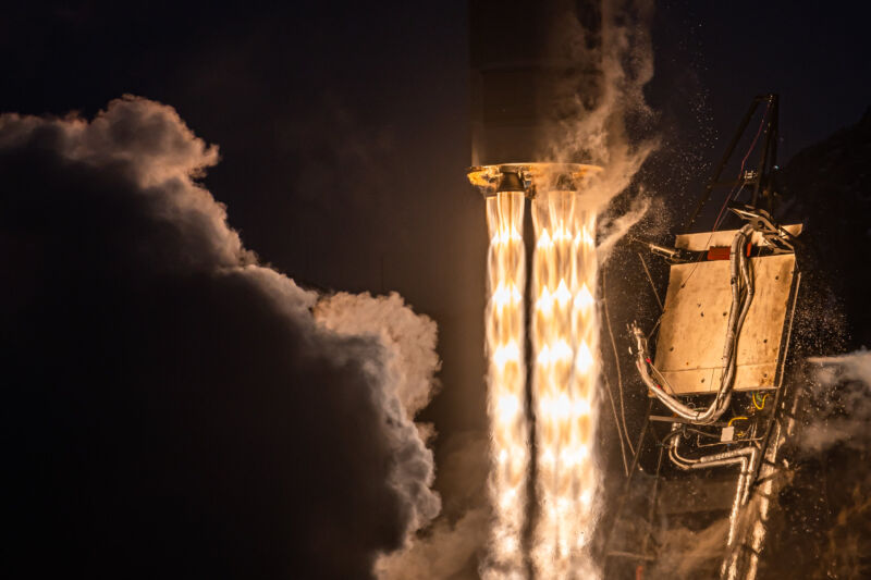 Photo of Astra's second orbital launch attempt, in December 2020.