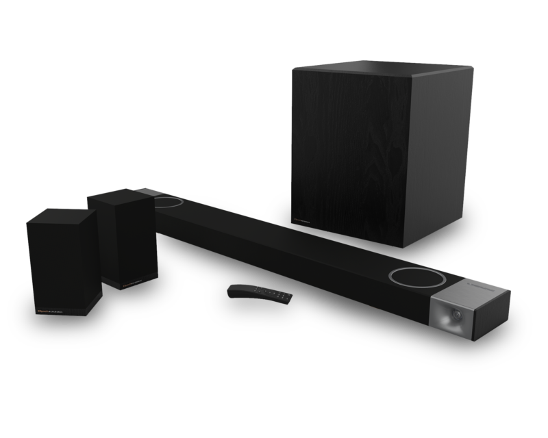 upward-projecting speakers.