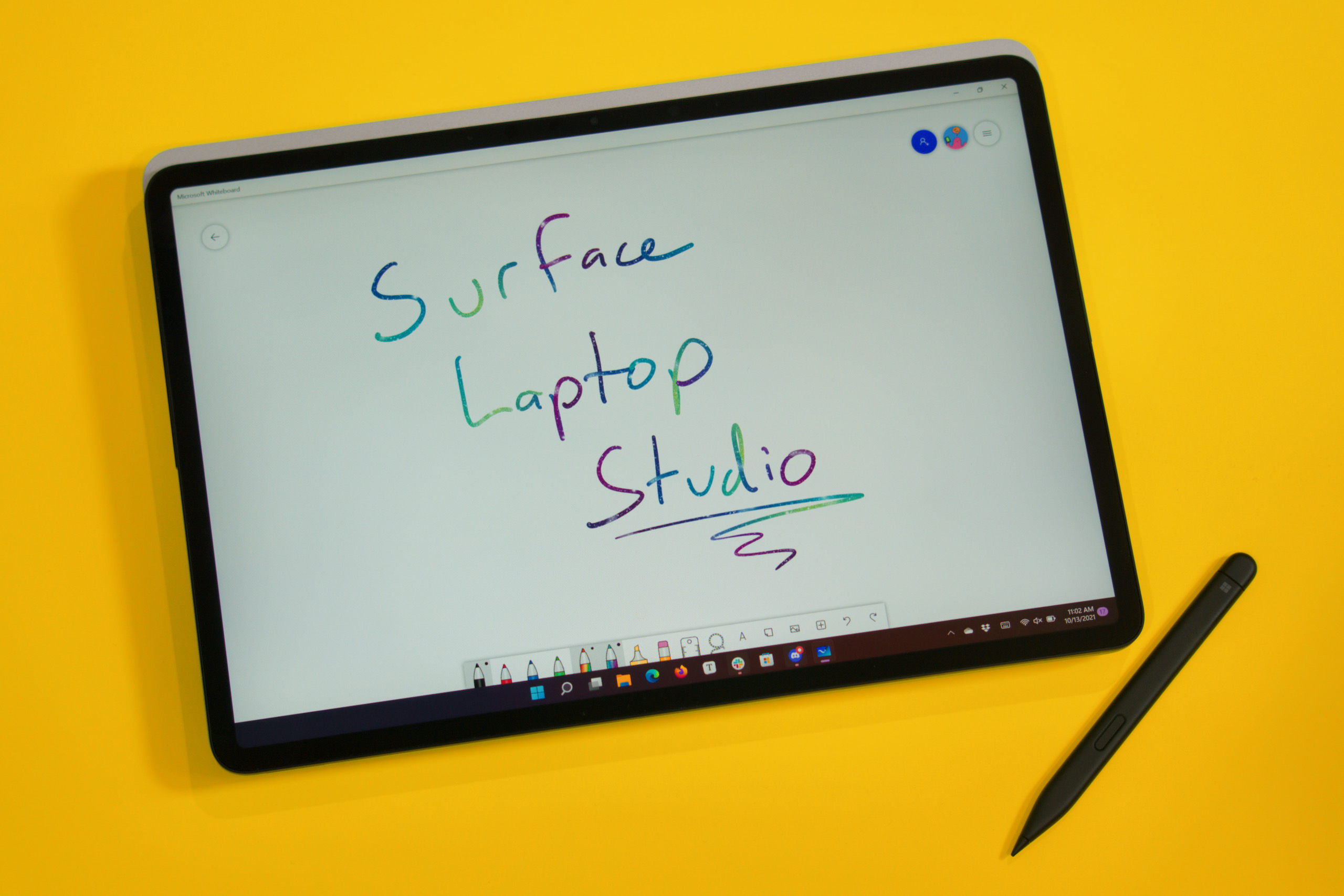 The Surface Laptop Studio makes a thick and heavy tablet, unlike the Surface Book where the tablet could be detached entirely from the base.