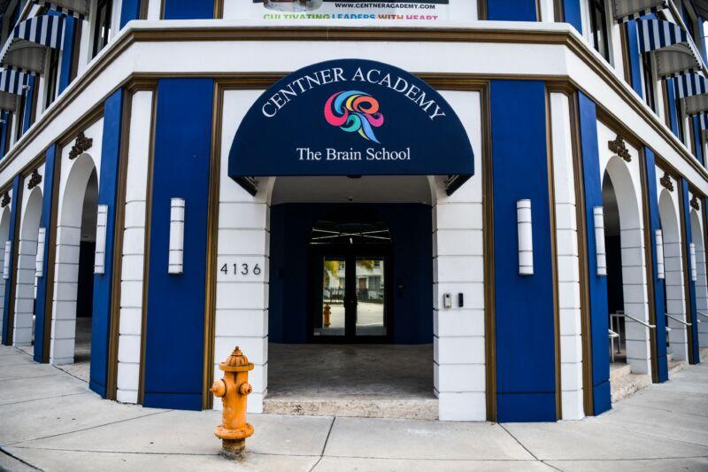 Centner Academy private school building is seen in Miami's Design District in Miami on April 27, 2021.