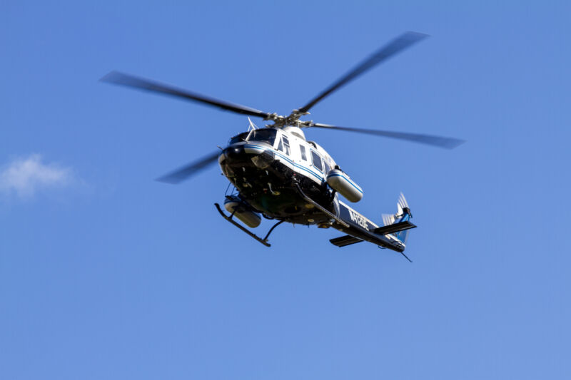 The US Department of Energy uses two Bell 412 helicopters to survey background radiation in advance of major events.