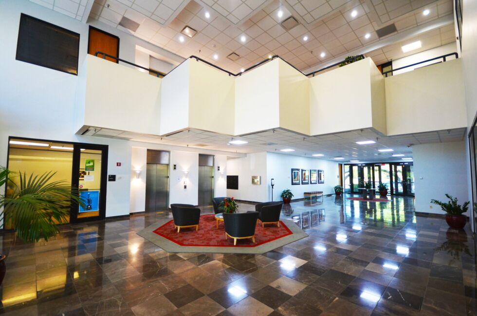 The lobby of Koala's building.