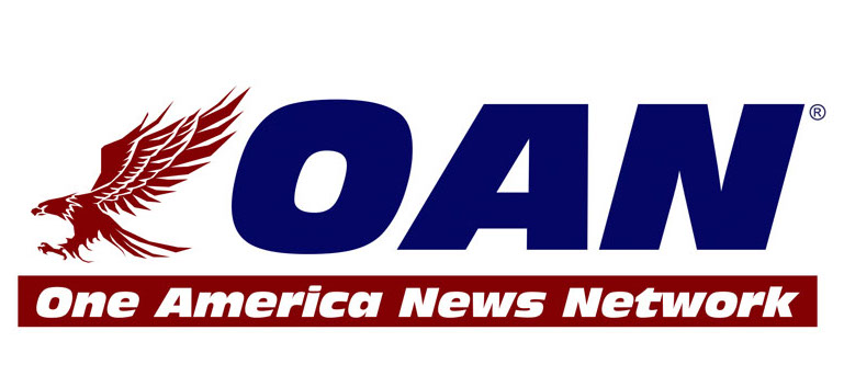 Eagle-trimmed logo for One American News Network.