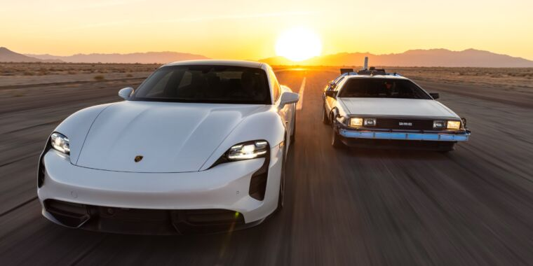 On Back to the Future day, Porsche celebrates 1.21 GW charging capacity
